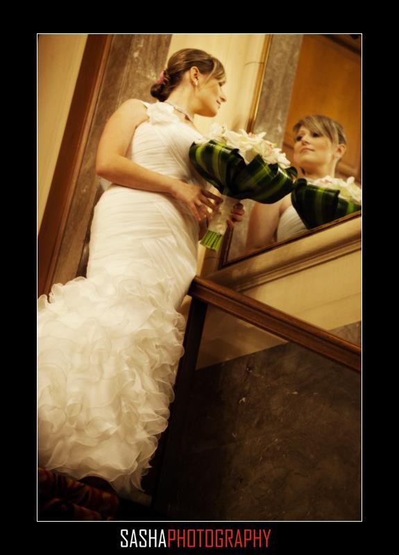 bride in sir francis drake lobby