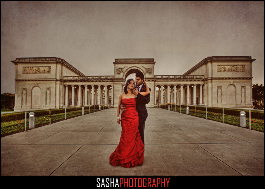 legion of honor wedding photo