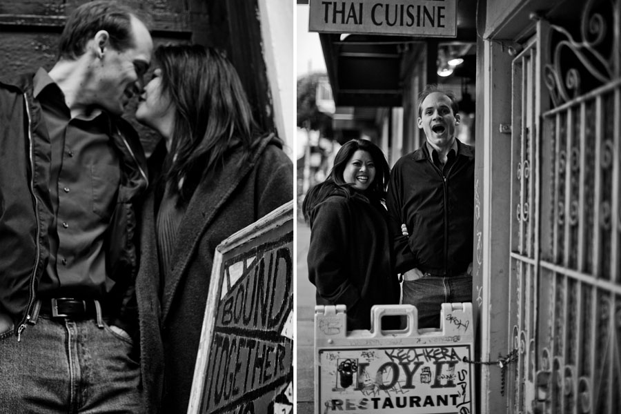 haight street engagement session
