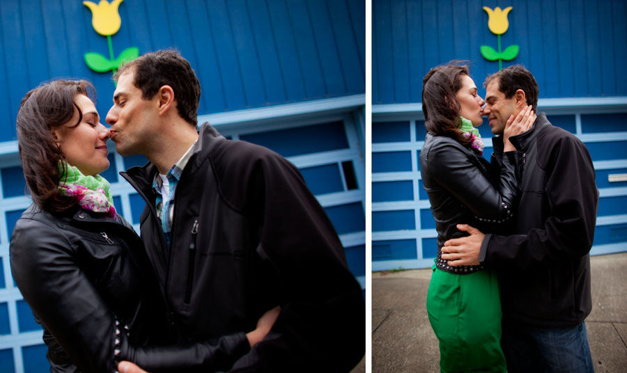 foggy san francisco engagement session