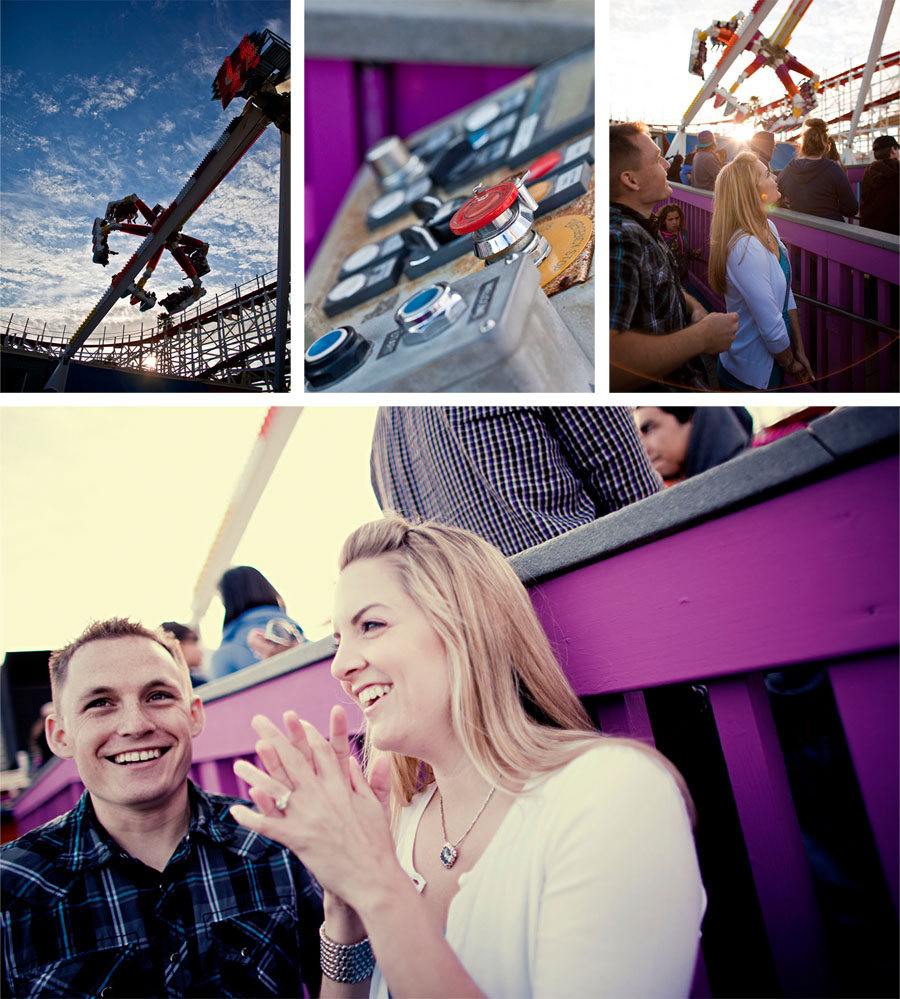 santa cruz beach boardwalk engagement photos