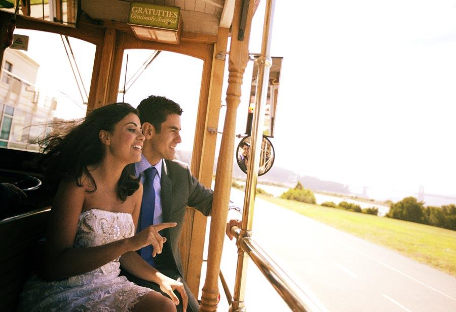 san francisco cable car wedding