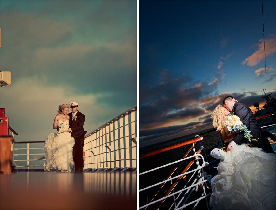 carnival cruise wedding photos