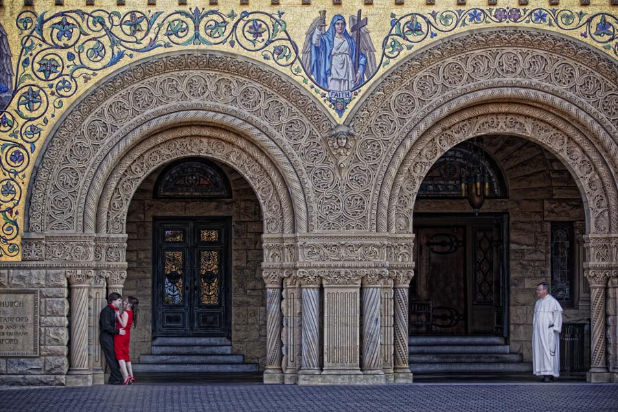 stanford university engagement session