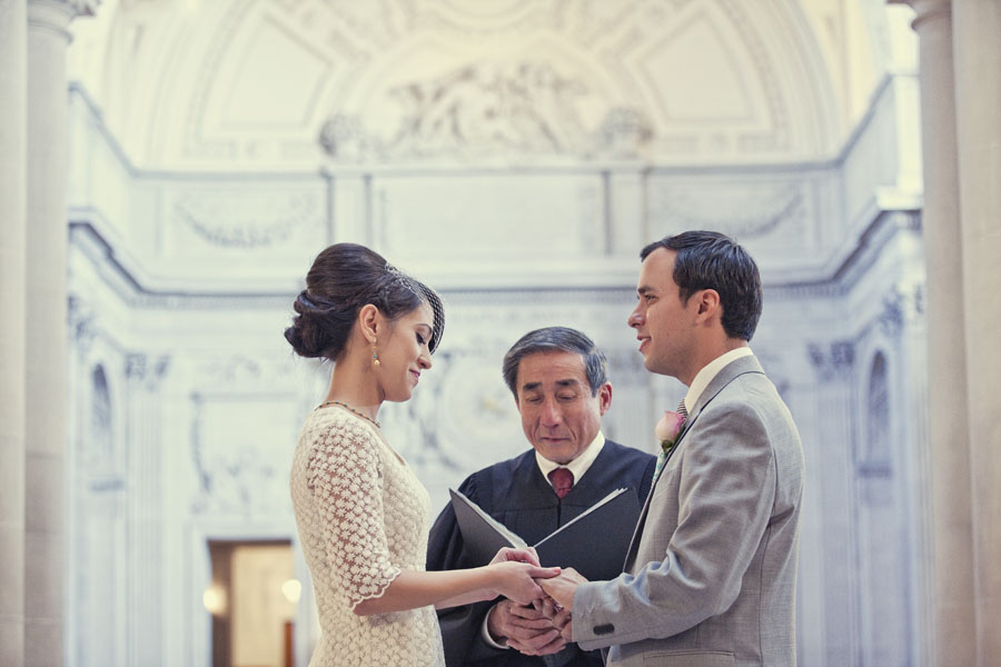vintage san francisco city hall wedding