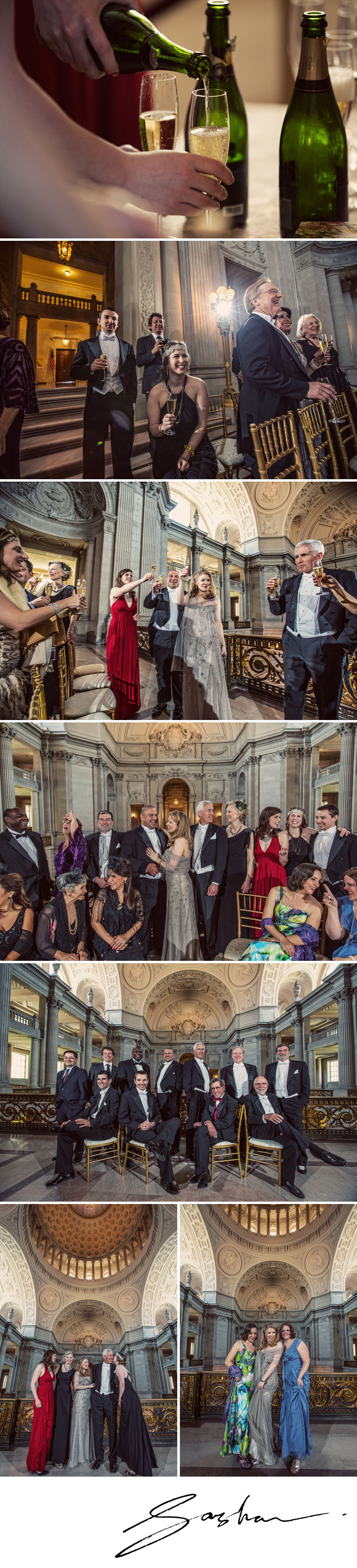 San Francisco City Hall Mayor's Balcony Wedding photos
