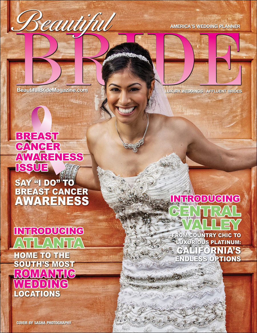 beautiful bride magazine cover sasha photography