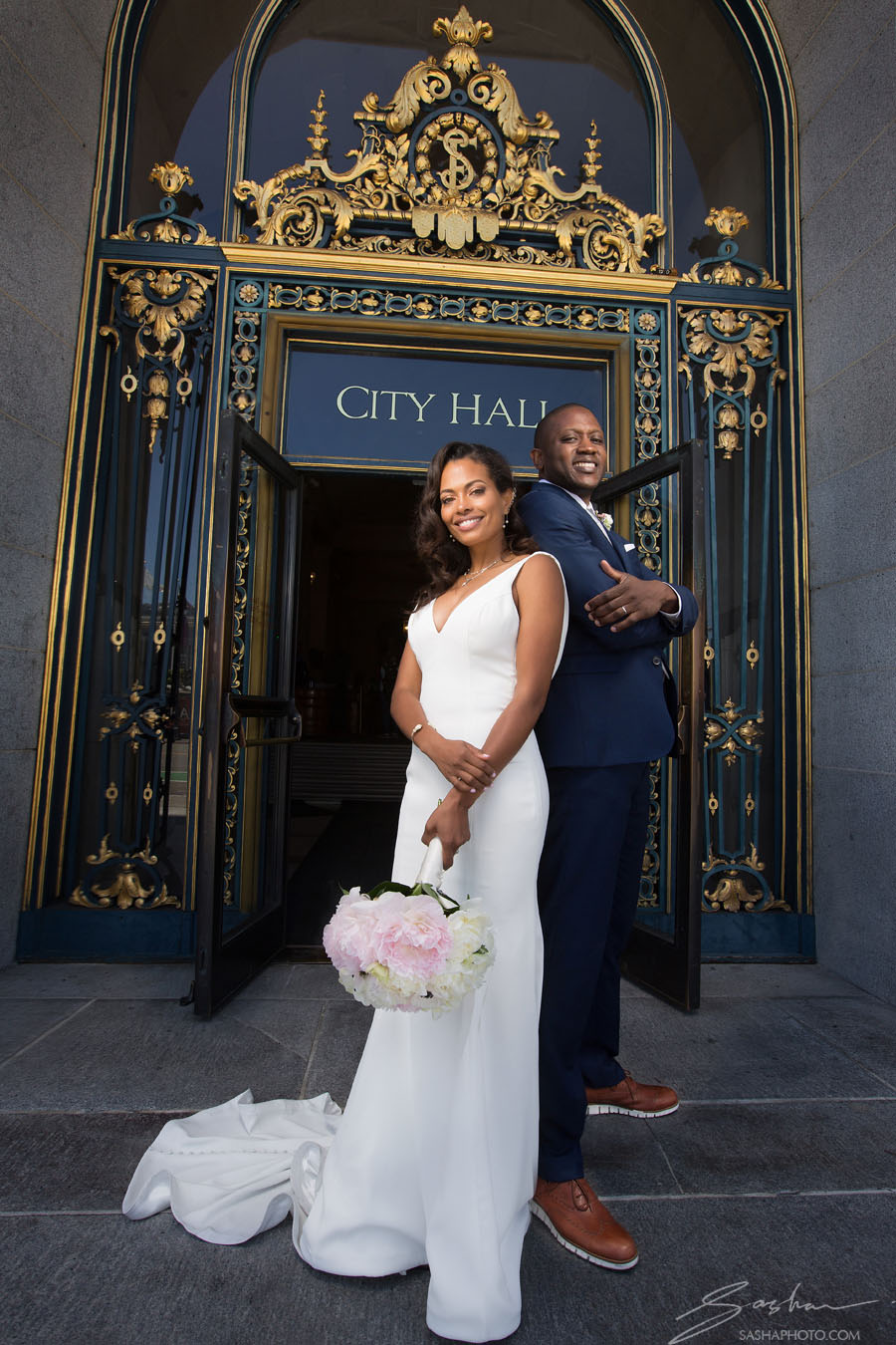 San Francisco City Hall Wedding Black