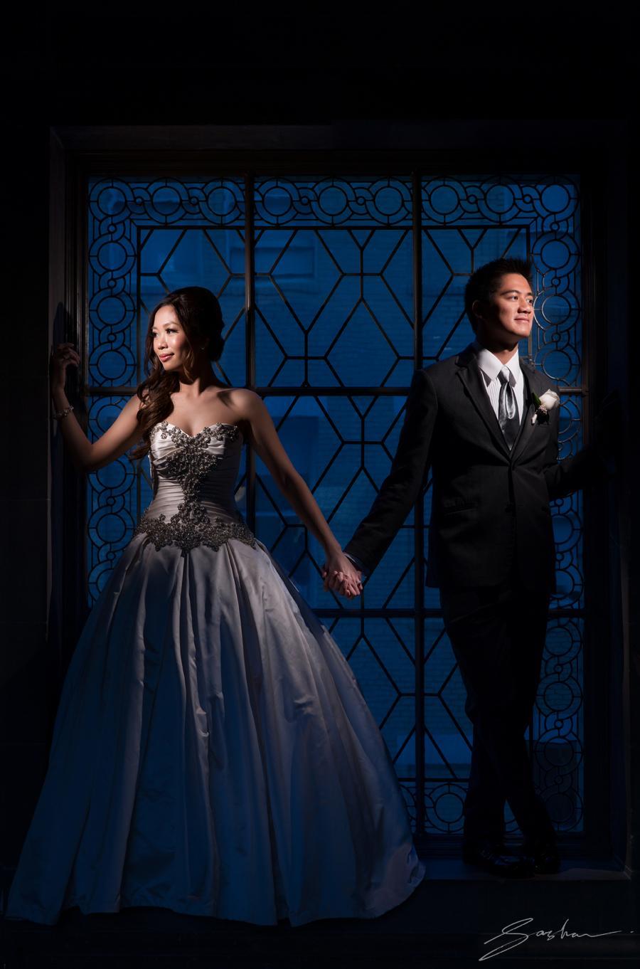 bride groom city hall window