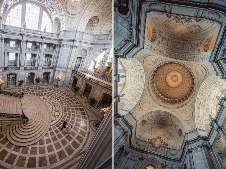 san francisco city hall ceiling