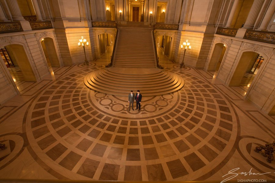 grooms san francisco city hall wide