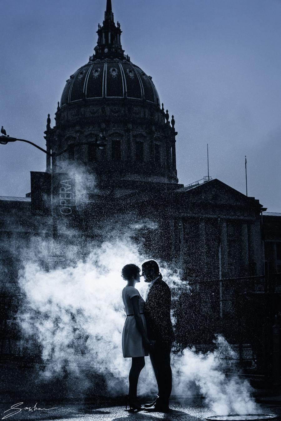 san francisco city hall wedding rain