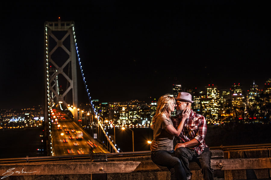 bay bridge san francisco engagement