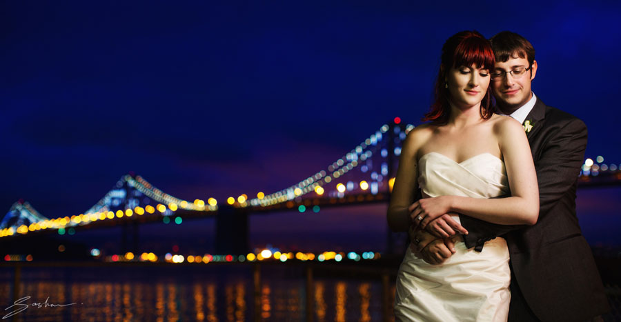 san francisco bay bridge wedding