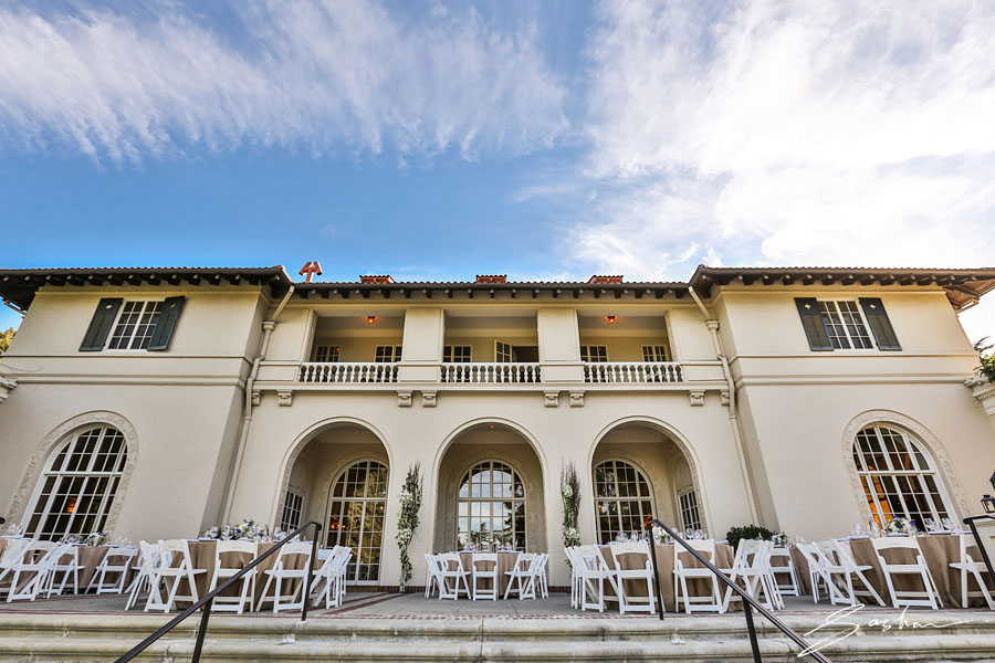 villa montalvo reception setup