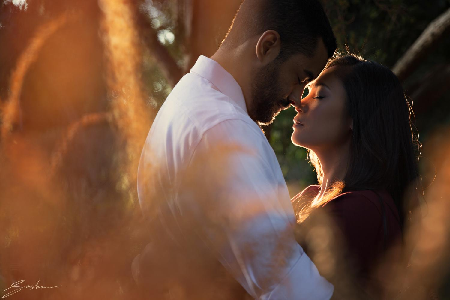 engagement session lighting