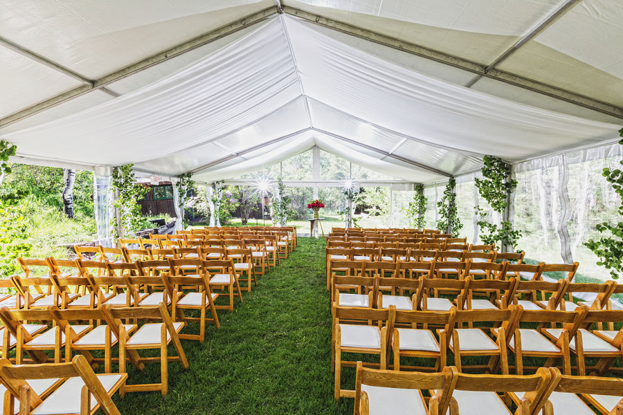 aspen destination wedding tent