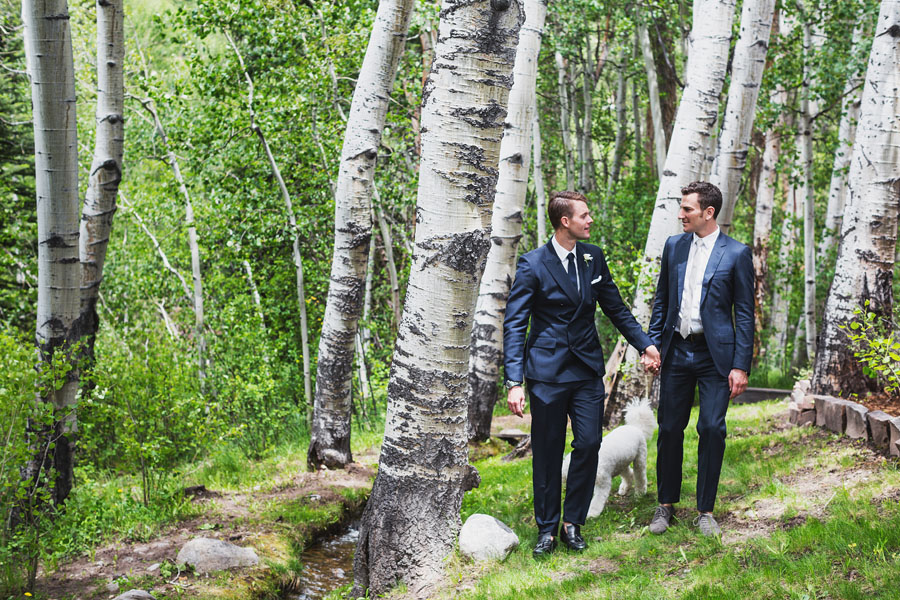 aspen rustic same sex wedding