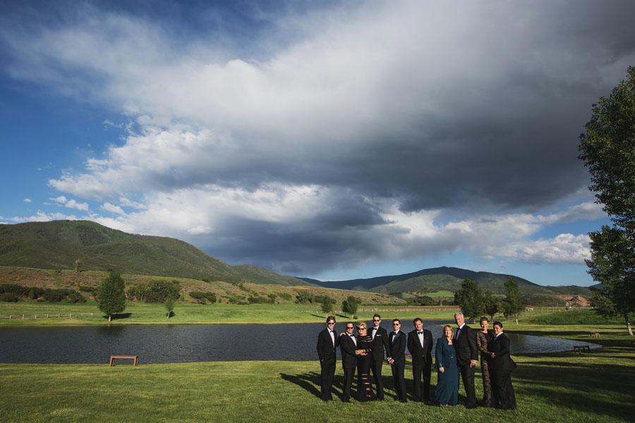 aspen chaparral wedding family portrait