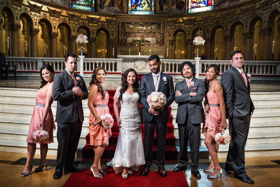 bridal party stanford memorial church