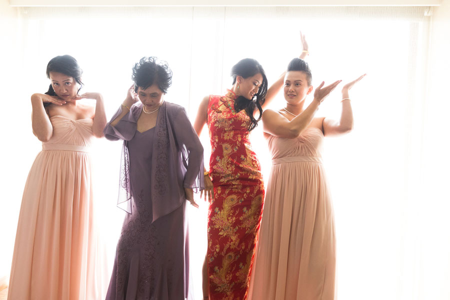 bride bridesmaids cheongsam