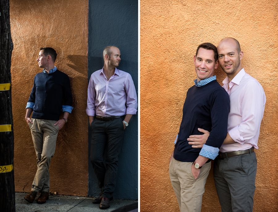 san francisco gay engagement session