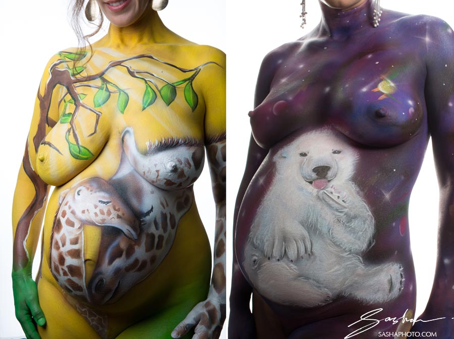 body painting maternity