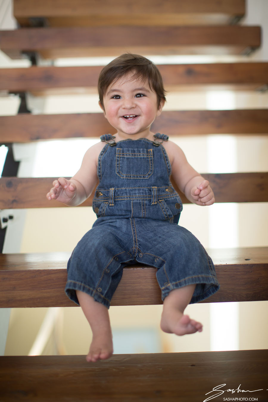 boy portrait overalls