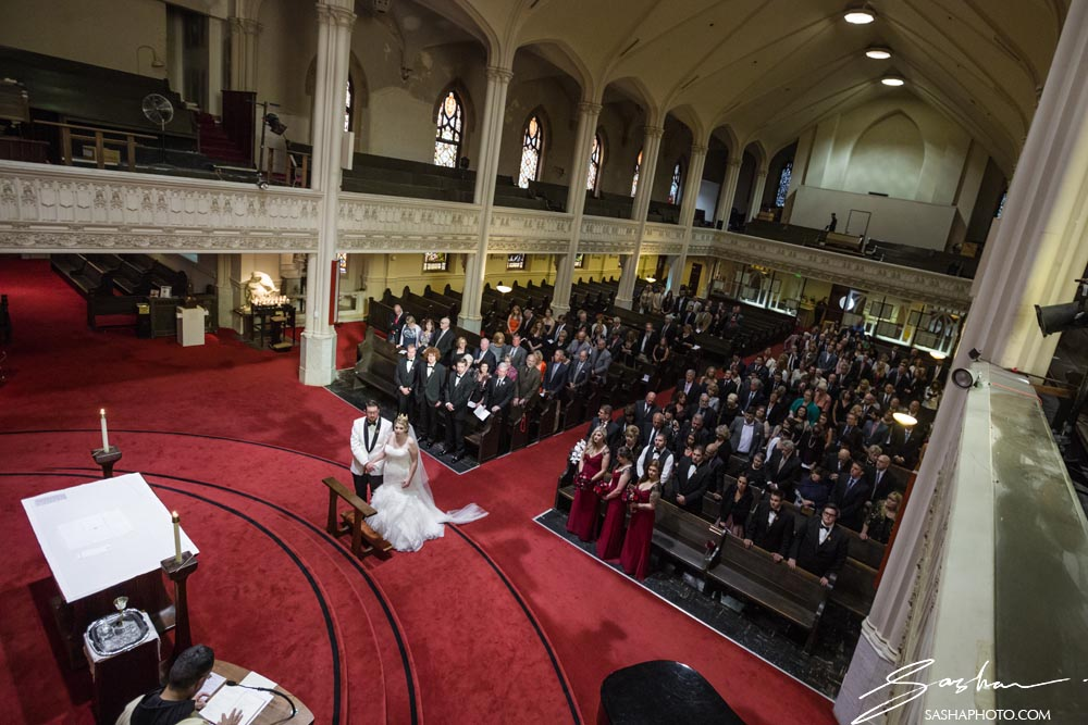 ceremony in large church