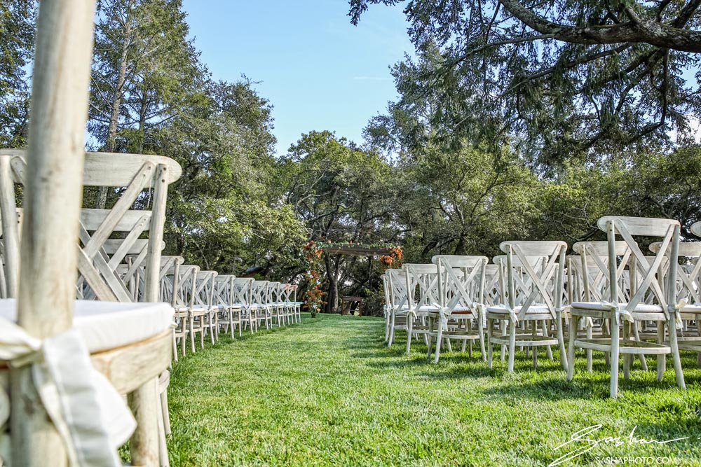 ceremony setup chairs
