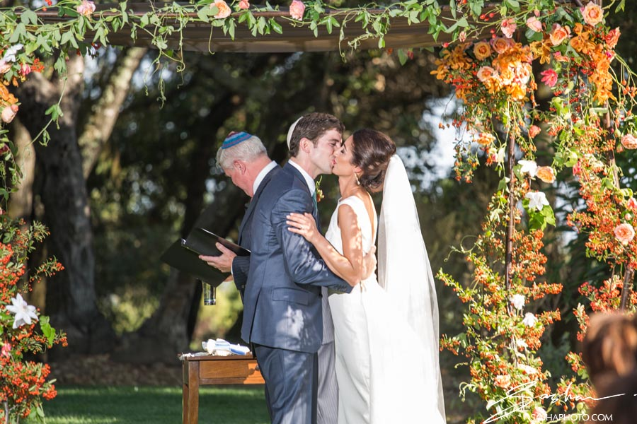 wine country jewish wedding