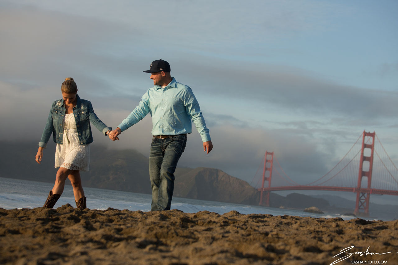 baker beach engagement session