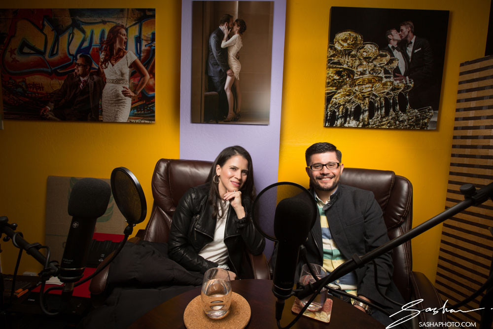 couple in studio podcast