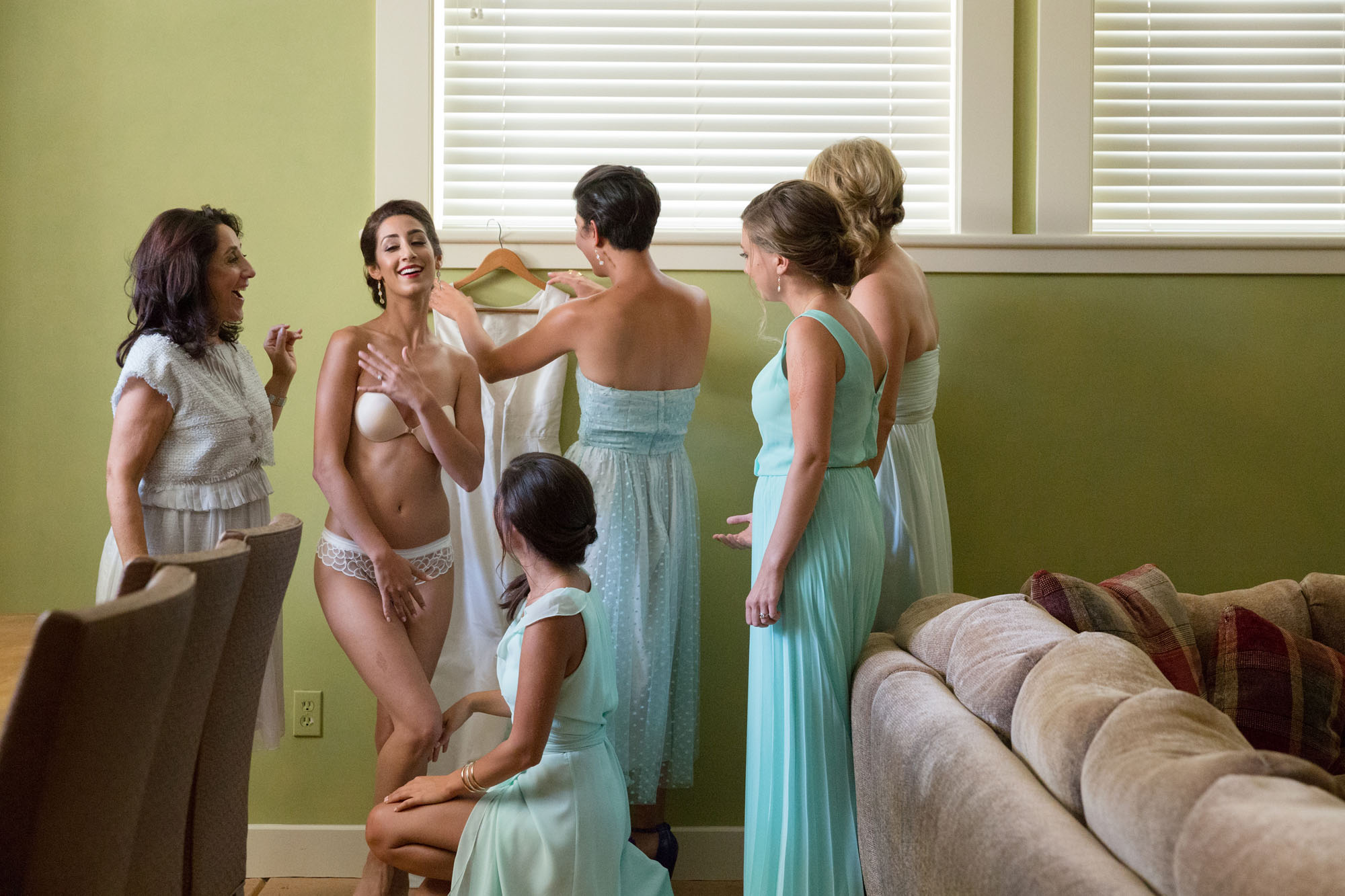 bride lingerie getting ready