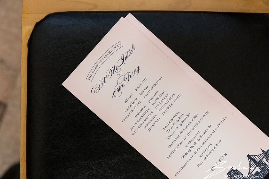 san francisco city hall saturday wedding invitation