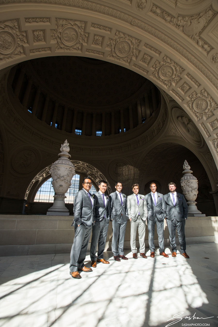 groomsmen on the 4th floor of city hall