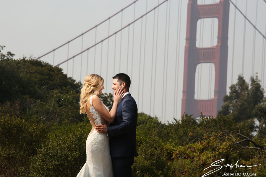 bride groom golden gate bridge