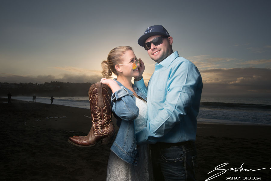 blue engagement sessions