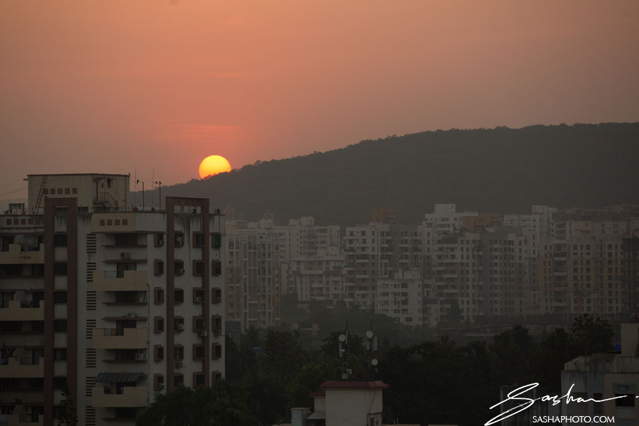 india pune sunset
