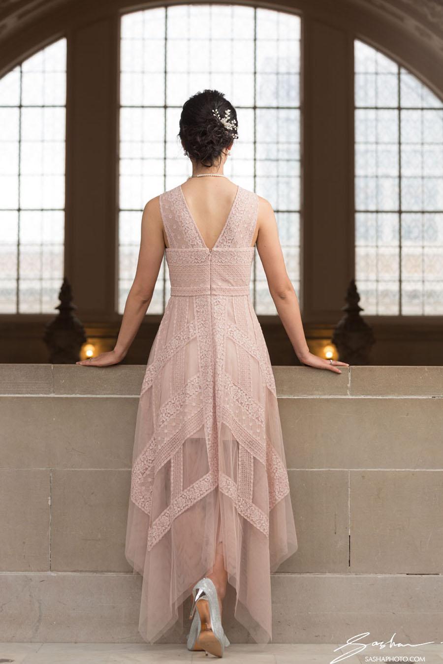 lace wedding dress sf city hall