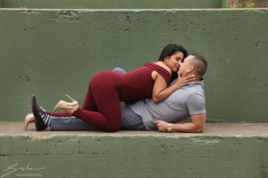 sexy couple pose romper