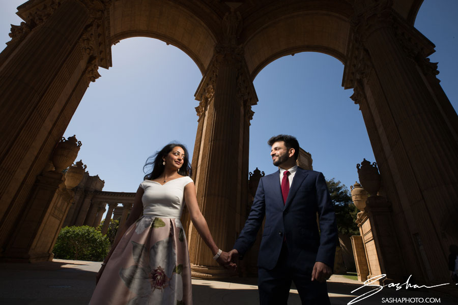 pre wedding session palace of fine arts
