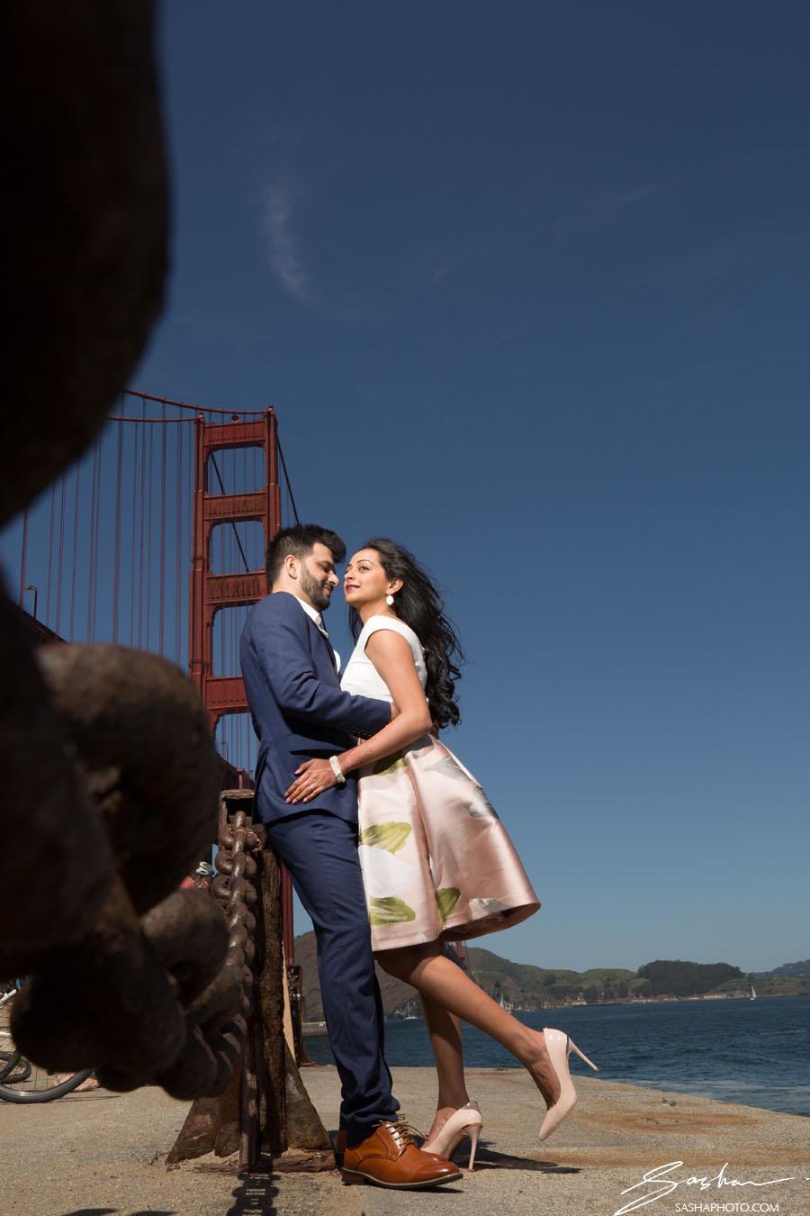 pre wedding session golden gate bridge