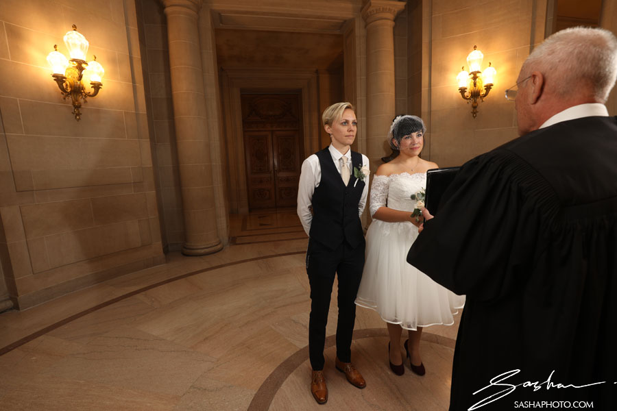 two brides at san francisco city hall
