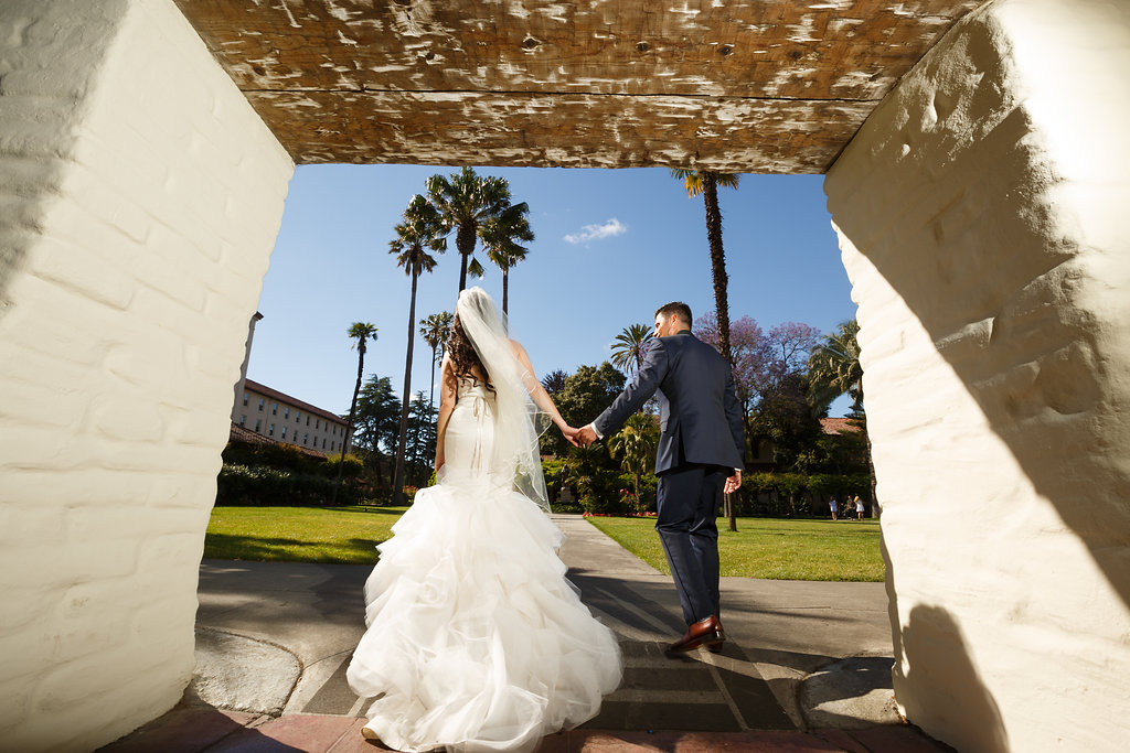 mission santa clara wedding