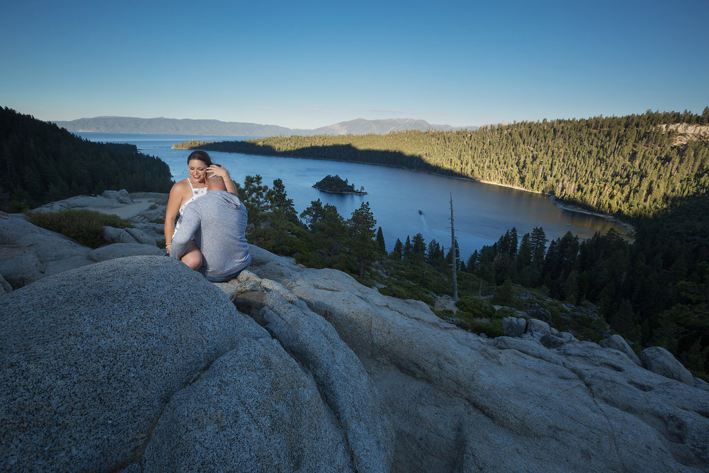 emerald bay engagement session