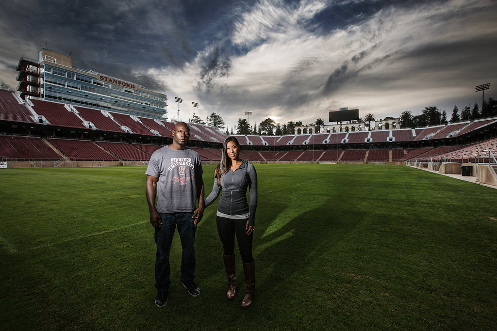 stanford stadium engagement session