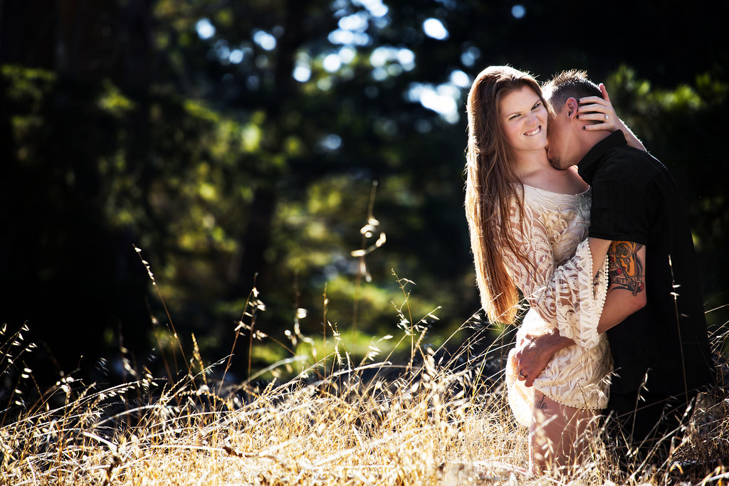 golden gate park engagement session