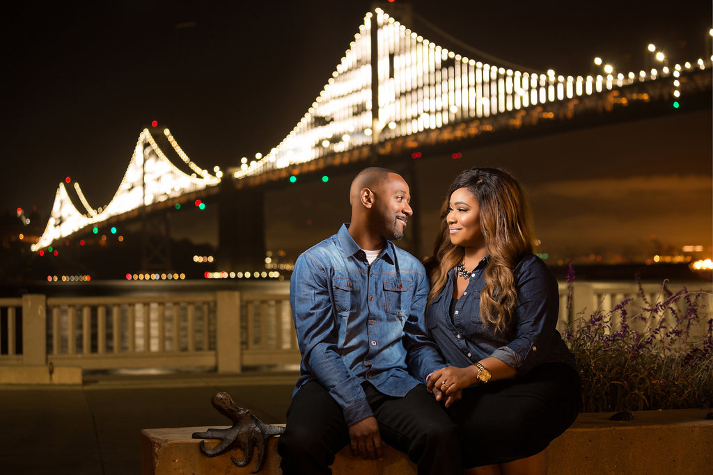 bay bridge engagement session