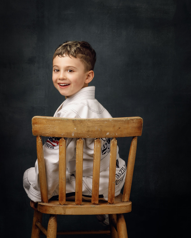 boy portrait studio